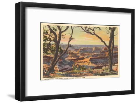 Sunset from Hopi Point, Grand Canyon--Framed Art Print