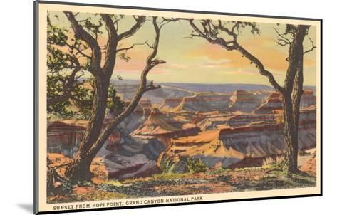 Sunset from Hopi Point, Grand Canyon--Mounted Art Print