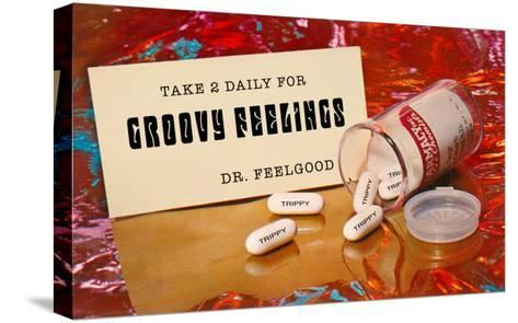 Dr. Feelgood's Trippy Pills--Stretched Canvas Print
