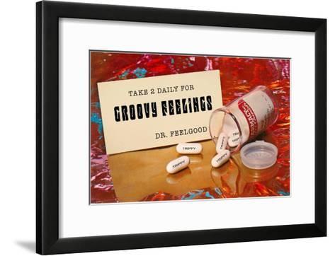 Dr. Feelgood's Trippy Pills--Framed Art Print