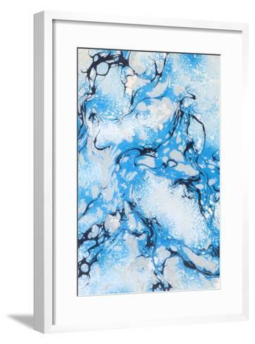 Psychedelic Blue Swirls--Framed Art Print