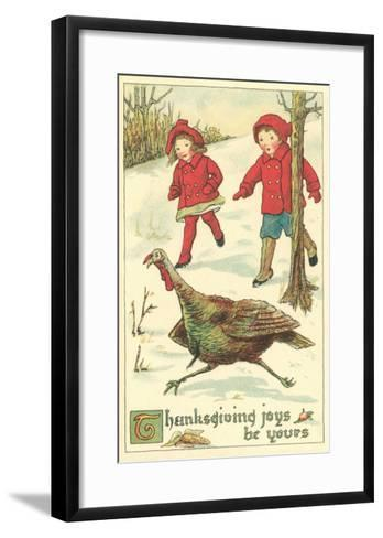 Children Encountering Turkey--Framed Art Print