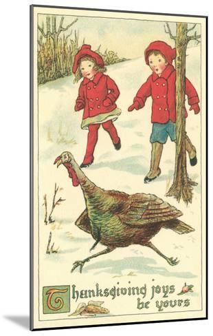 Children Encountering Turkey--Mounted Art Print