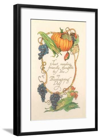 Friendly Thanksgiving Thoughts--Framed Art Print
