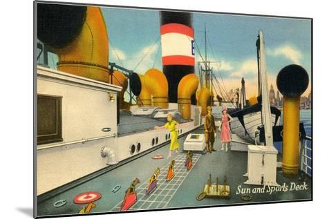 Sun and Sports Deck of Ocean Liner--Mounted Art Print