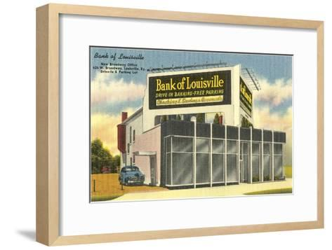 Drive-in Bank of Louisville--Framed Art Print