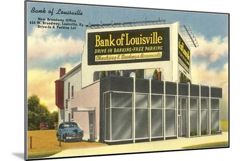 Drive-in Bank of Louisville--Mounted Art Print