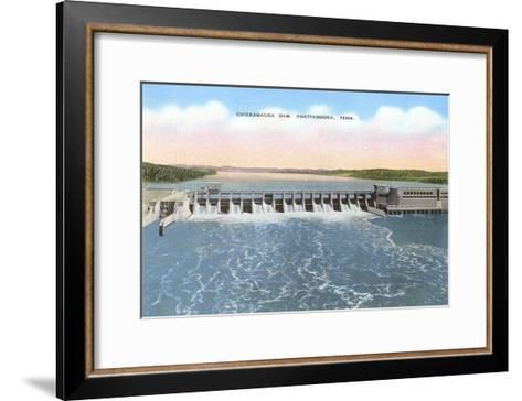 Chickamauga Dam, Chattanooga, Tennessee--Framed Art Print