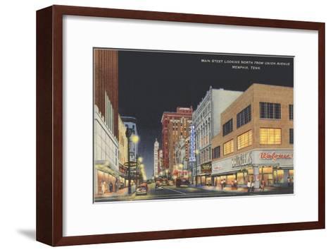 Main Street, Memphis, Tennessee--Framed Art Print