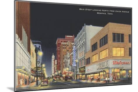 Main Street, Memphis, Tennessee--Mounted Art Print