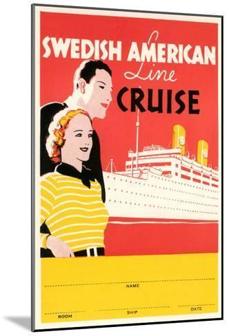Cruise Travel Poster--Mounted Art Print