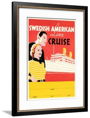 Cruise Travel Poster--Framed Art Print