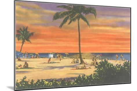 Sunset on a Tropical Beach--Mounted Art Print