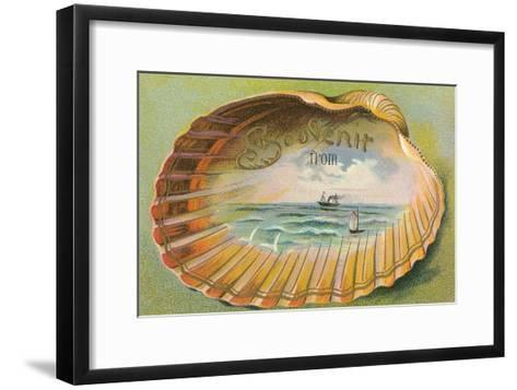 Souvenir from... Clam Shell--Framed Art Print