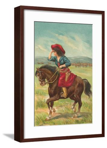 Colorful Cowgirl--Framed Art Print