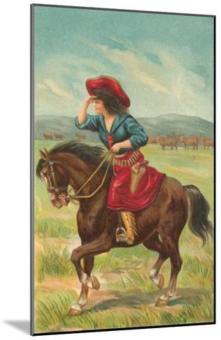 Colorful Cowgirl--Mounted Art Print