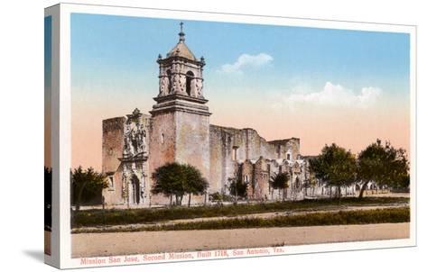 Mission San Jose, San Antonio, Texas--Stretched Canvas Print