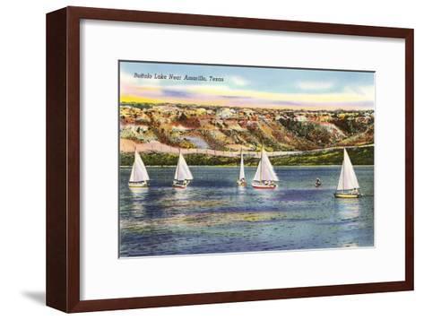 Buffalo Lake, Amarillo, Texas--Framed Art Print