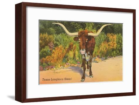 Texas Longhorn Steer--Framed Art Print