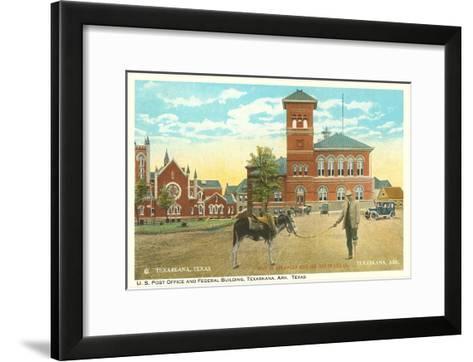Post Office and Federal Building, Texarkana, Texas--Framed Art Print