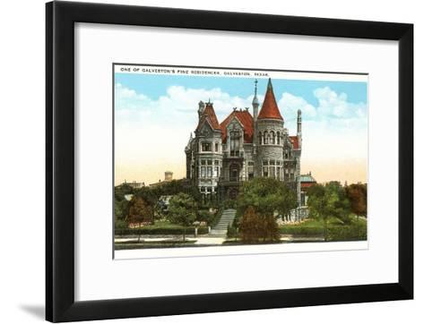 Fine Residence, Galveston, Texas--Framed Art Print