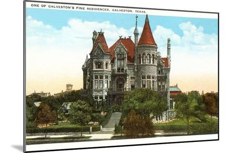 Fine Residence, Galveston, Texas--Mounted Art Print