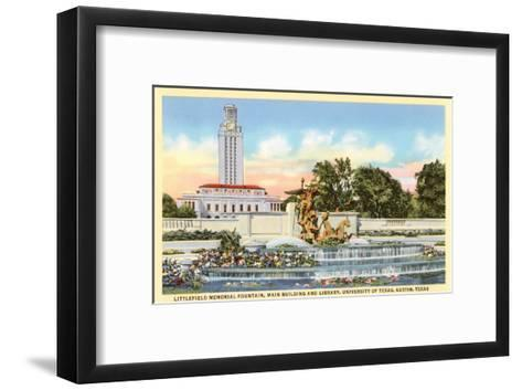 Littlefield Fountain, University of Texas, Austin--Framed Art Print