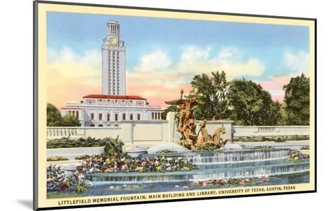 Littlefield Fountain, University of Texas, Austin--Mounted Art Print