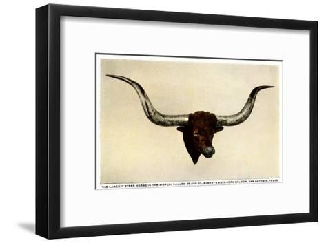 Texas Longhorn Steer Trophy Head--Framed Art Print