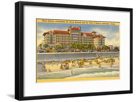 Hotel Galvez, Galveston, Texas--Framed Art Print