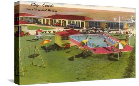 Plaza Courts Motel, Houston, Texas--Stretched Canvas Print