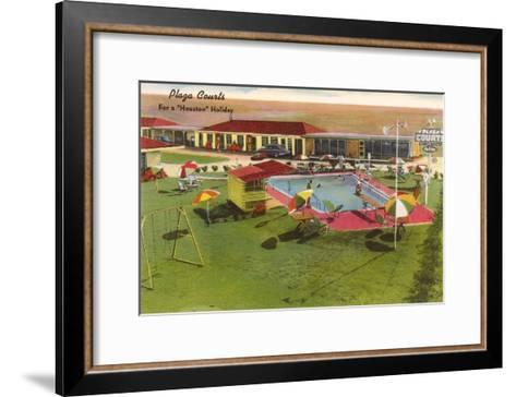 Plaza Courts Motel, Houston, Texas--Framed Art Print