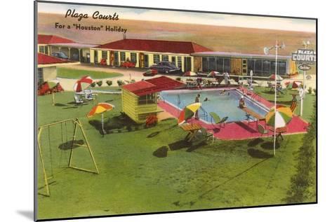 Plaza Courts Motel, Houston, Texas--Mounted Art Print