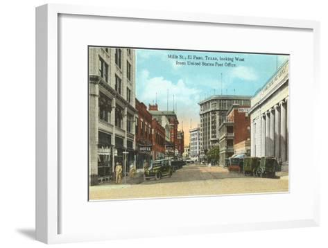 Mills Street, El Paso, Texas--Framed Art Print