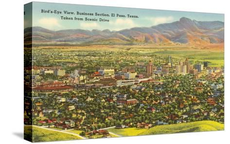 View over Business District, El Paso, Texas--Stretched Canvas Print