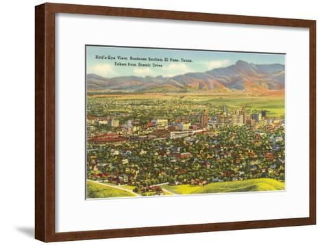 View over Business District, El Paso, Texas--Framed Art Print