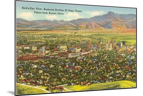 View over Business District, El Paso, Texas--Mounted Art Print