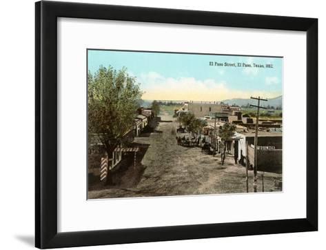 Early View, El Paso Street, El Paso, Texas--Framed Art Print