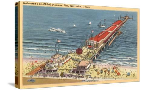 Pleasure Pier, Galveston, Texas--Stretched Canvas Print