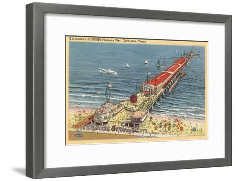Pleasure Pier, Galveston, Texas--Framed Art Print