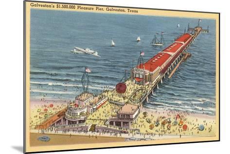 Pleasure Pier, Galveston, Texas--Mounted Art Print
