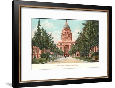 Capitol Building at Austin, Texas--Framed Art Print