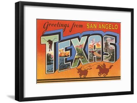 Greetings from San Angelo Texas--Framed Art Print