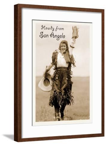 Howdy from San Angelo, Texas--Framed Art Print