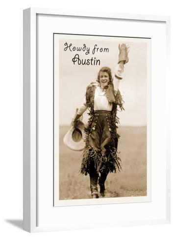 Howdy from Austin, Texas--Framed Art Print
