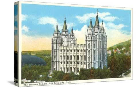 Mormon Temple, Salt Lake City, Utah--Stretched Canvas Print
