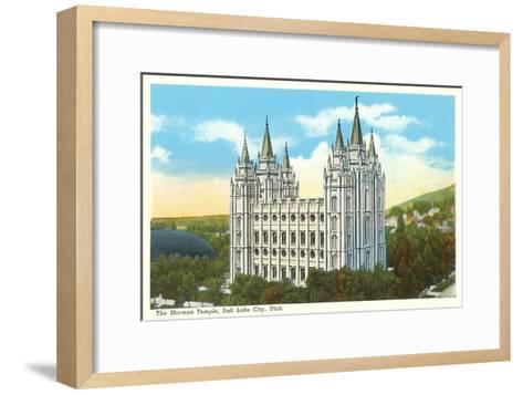 Mormon Temple, Salt Lake City, Utah--Framed Art Print