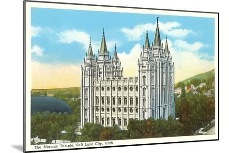 Mormon Temple, Salt Lake City, Utah--Mounted Art Print