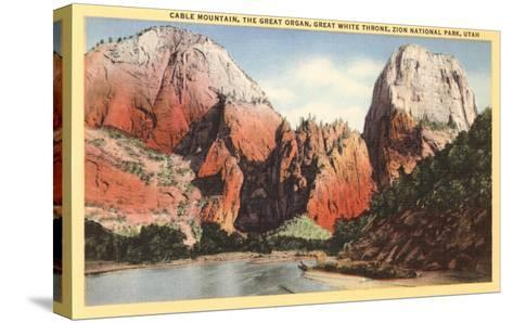 Mountains in Zion National Park, Utah--Stretched Canvas Print