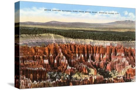 Silent City, Bryce Canyon, Utah--Stretched Canvas Print